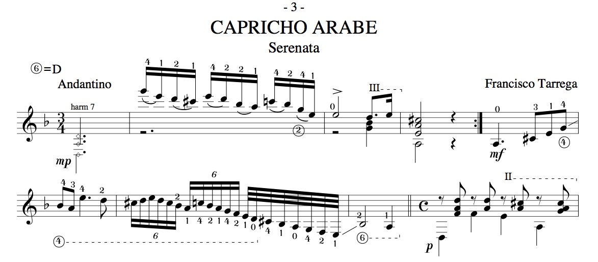 capricho arabe section